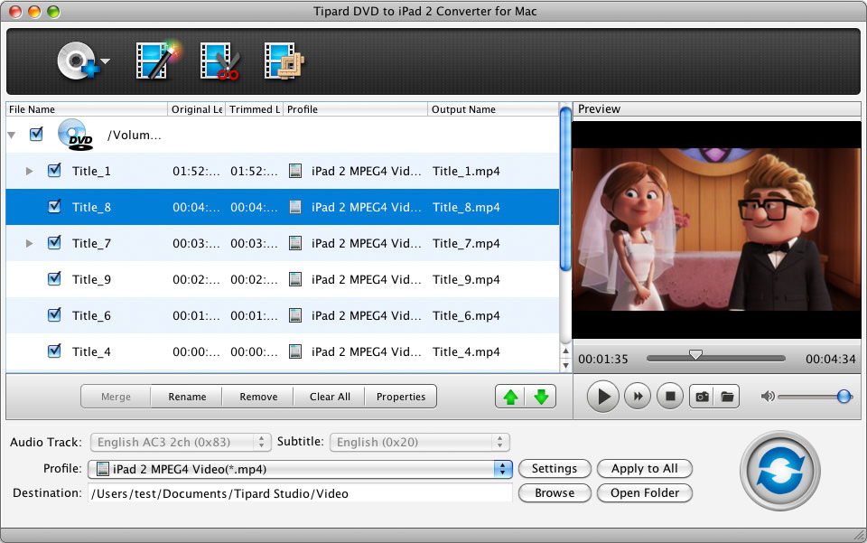 DVD to iPad 2 Converter for Mac