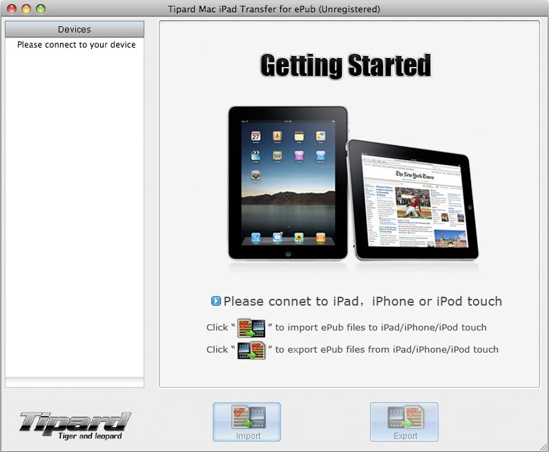 iPad 2 to Mac Transfer for ePub